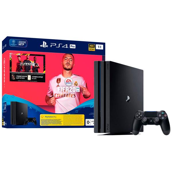 Купить Игровая консоль PS4 PlayStation 4 Pro 1TB Black + FIFA 20 (CUH-7208B) в каталоге интернет магазина М.Видео по выгодной цене с доставкой, отзывы, фотографии - Тверь