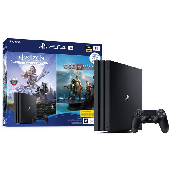 Купить Игровая консоль PS4 PlayStation 4 Pro 1TB Black+Horizon Zero Dawn/God Of War в каталоге интернет магазина М.Видео по выгодной цене с доставкой, отзывы, фотографии - Улан-Удэ