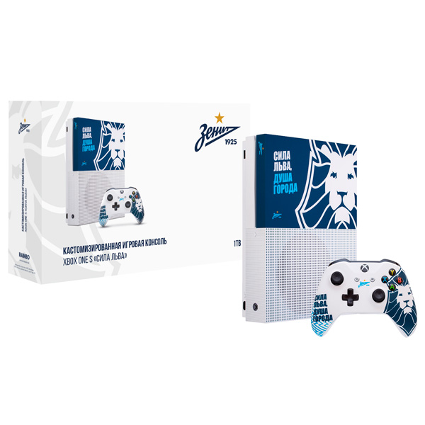 "Игровая консоль Xbox One Xbox One Rainbo — S 1TB ""Зенит. Сила Льва"""