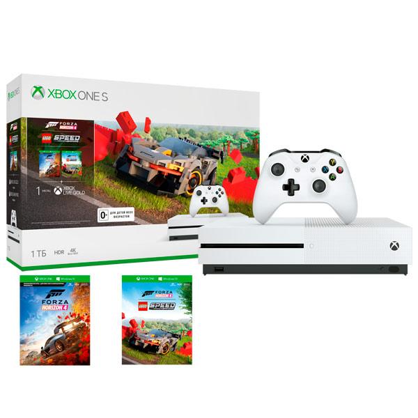 Игровая консоль Xbox One Microsoft S 1TB + Forza Horizon 4 + LEGO Speed Champions
