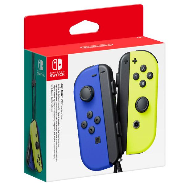 Геймпад для  Switch Nintendo 2шт, Joy-Con синий/неоновый желтый