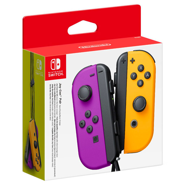 Геймпад для  Switch Nintendo 2шт, Joy-Con неоновый фиолетовый/оранжевый