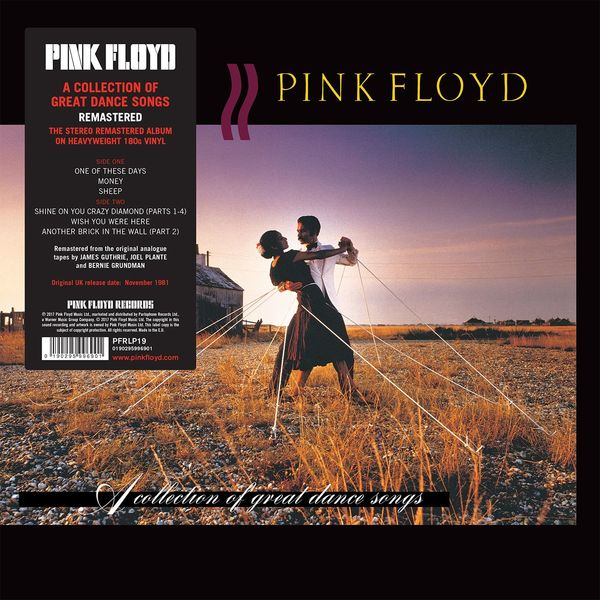 Виниловая пластинка Parlophone Pink Floyd:A Collection Of Great Dance Songs PARLOPHONE