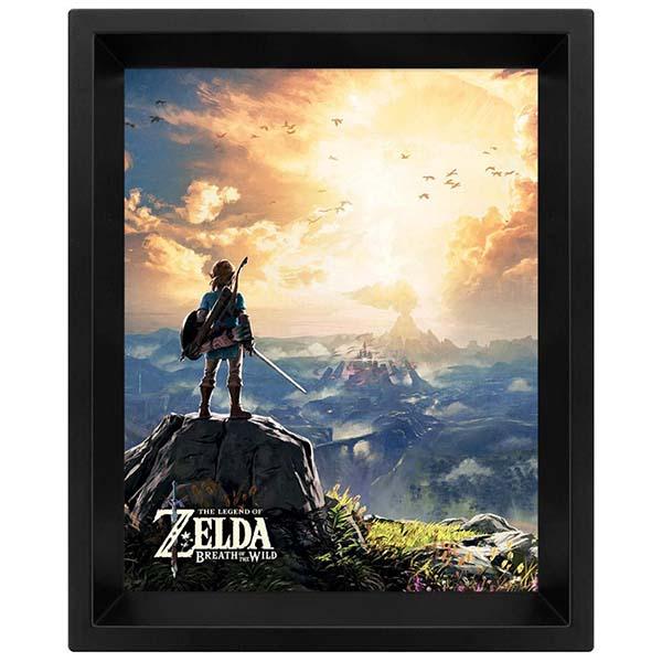 Сувенир Pyramid 3D постер The Legend Of Zelda: Sunset