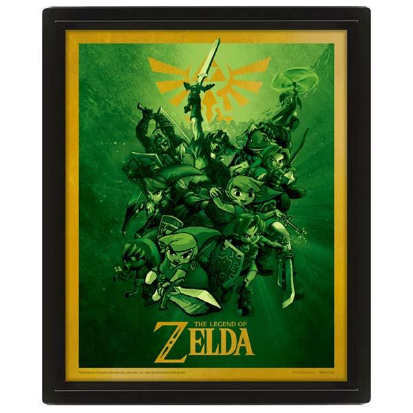 Сувенир Pyramid 3D постер The Legend Of Zelda: Link