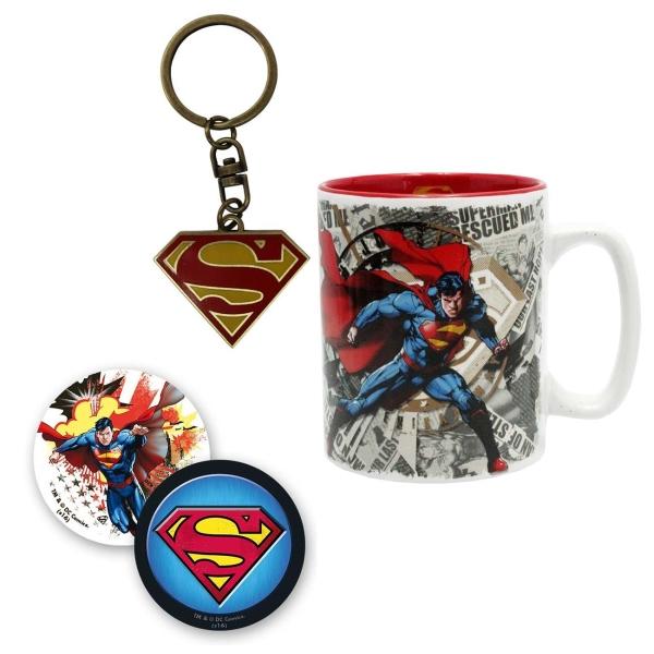 Набор ABYstyle Кружка+Брелок+Значки DC Comics: Superman блокнот abystyle graphic superman abynot005