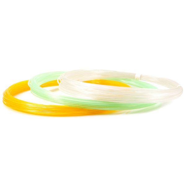 Пластик для 3D ручки UNID Pro-F (3 цвета по 10м, светящиеся)