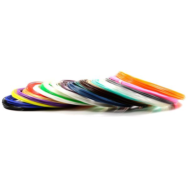 Пластик для 3D ручки UNID PLA-20 (20 цветов по 10м)