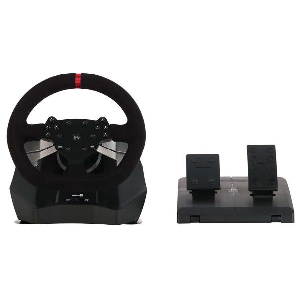 Аксессуар для игровой консоли Artplays V-1200 Vibro Racing Wheel черного цвета