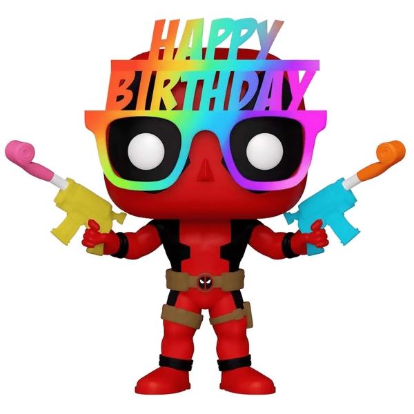 фигурка funko pop marvel deadpool 30th – birthday glasses deadpool bobble head 9 5 см Фигурка Funko POP! Deadpool 30th Birthday Glasses Deadpool