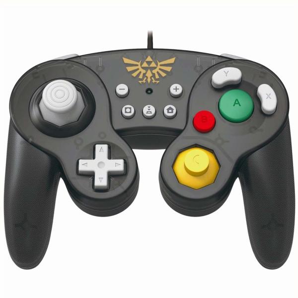 Геймпад для  Switch Hori Battle Pad Zelda (NSW-108U) серого цвета