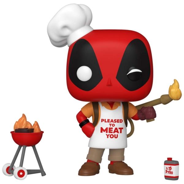 фигурка funko pop bobble marvel deadpool 30th backyard griller deadpool 54652 Фигурка Funko POP! Deadpool 30th: Backyard Griller Deadpool