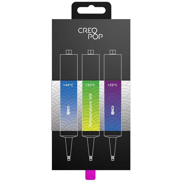 Чернила для 3D ручки Creopop 3А Чувствит.к темп-ре Blue/Green/Purple (SKU008)