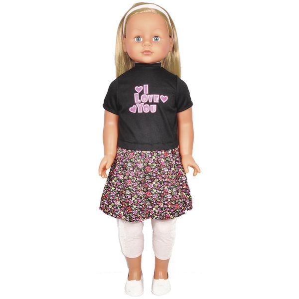 Кукла Lotus Onda 35001/8 в цветастом костюме (86см)