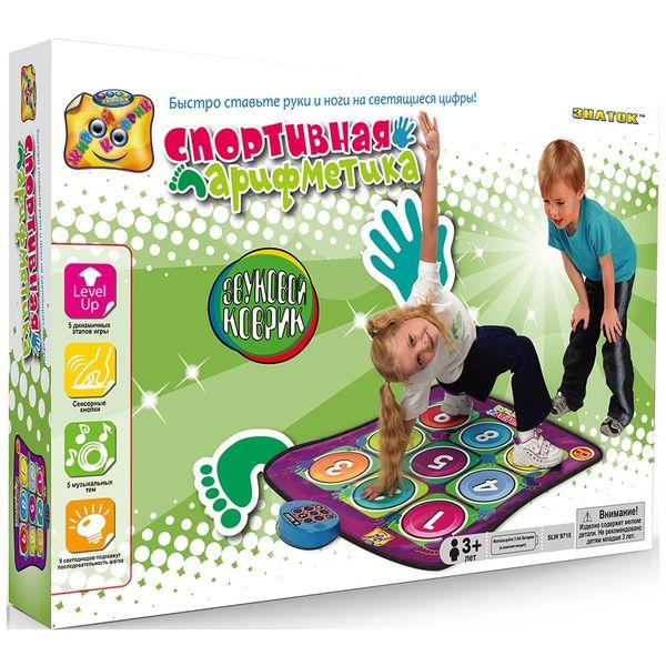 Интерактивная игрушка Знаток SLW9715 Звуковой коврик: Спортивная арифметика фото