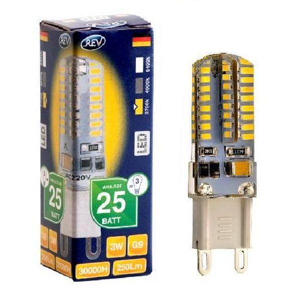 Лампа REV Ritter 32367 9 3Вт G9 250лм 2700К