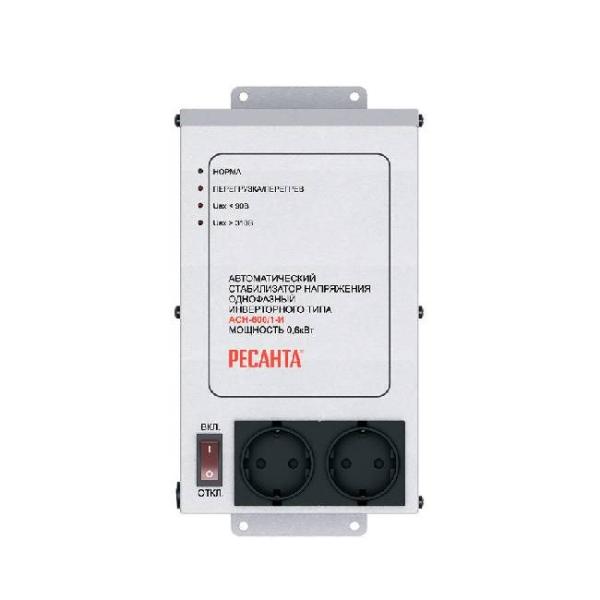 Стабилизатор напряжения Ресанта, АСН-600/1-И инверторного типа (63/6/36), серебристый  - купить со скидкой