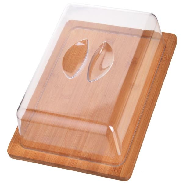 Сырница Mayer&Boch 27346 26,5см бамбук, с крышкой