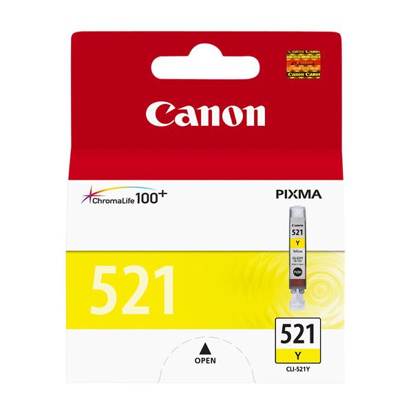Картридж для струйного принтера Canon CLI-521Y картридж струйный canon cli 521y 2936b004 желтый для canon ip3600 4600 4700 mp540 550 560 620 630 640 980 990 mx860