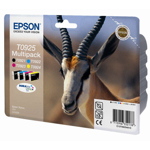 Картридж для струйного принтера Epson T0925 (C13T10854A10) картридж для принтера epson c13s015384 fabric ribbon