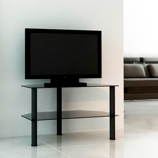 Подставка для телевизора Flatform МВ-04 черн-дымч подставка для телевизора metaldesign 527 черн дымч