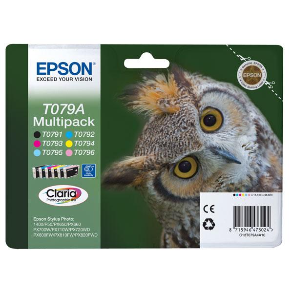Картридж для струйного принтера Epson Т079А (С13T079A4A10) картридж для принтера epson c13s015384 fabric ribbon