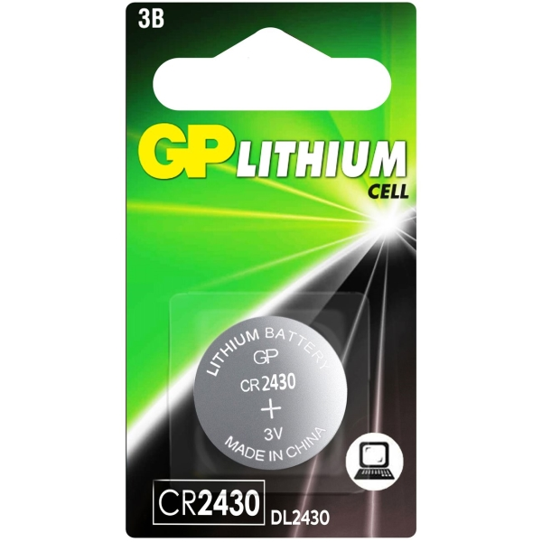 Батарея GP литиевая, CR2430, 1 шт. (CR2430-CR1)