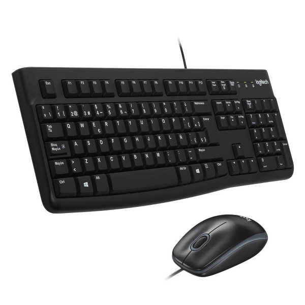Комплект клавиатура+мышь Logitech MK120 (920-002561) клавиатура мышь logitech mk240 usb белый 920 005791