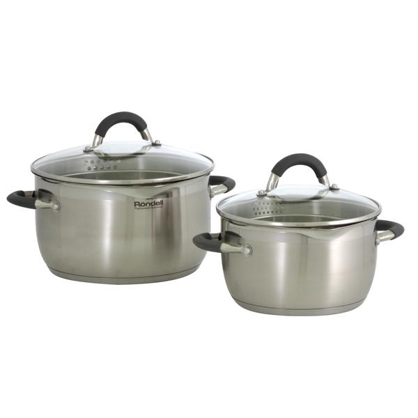 Набор посуды (нержавейка) Rondell Flamme RDS-339 2шт.: 3,2/5,7л