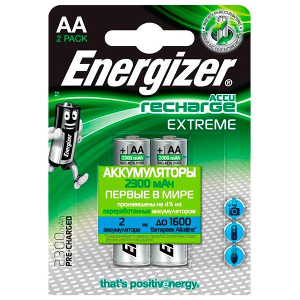 где купить Аккумулятор Energizer AA-HR6 2300mAh 2 шт. дешево