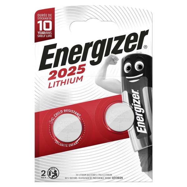 Батарея Energizer CR2025 2 шт
