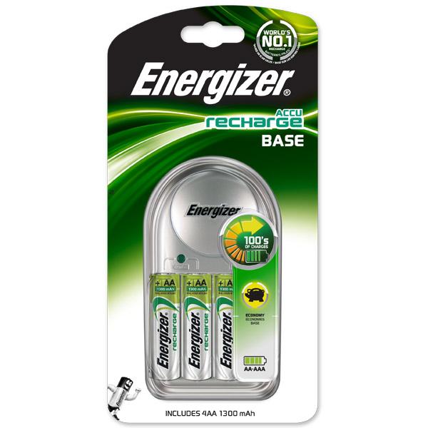 Зарядное устройство + аккумуляторы Energizer Base 4AA 1300mAh зарядное устройство аккумуляторы energizer base 4aa 1300mah