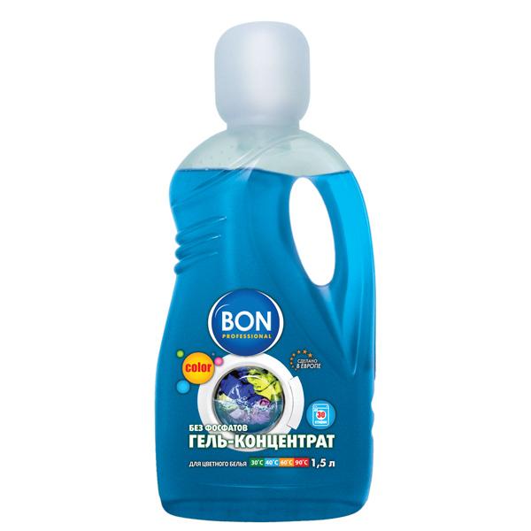 Стиральный порошок Bon BN-202 для стирки цветного белья, 1500мл. кондиционер концентрат для белья bon северное сияние 1 5 л