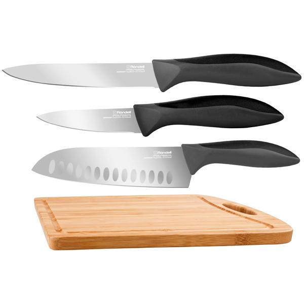 Набор кухонных ножей Rondell RD-462 нож страйт сталь 65х13