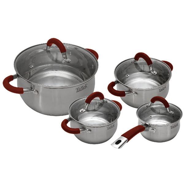 Набор посуды (нержавейка) TalleR TR-7150 4шт.: 2,2/3,2/5л кастрюля 2 л taller tr 7392