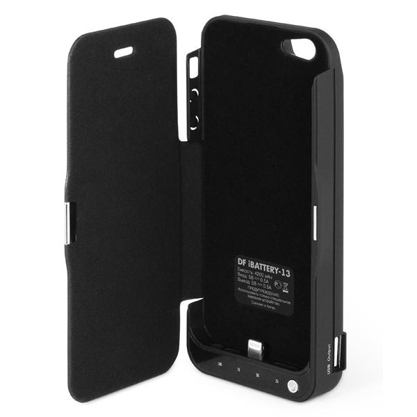 b5f1b68cc28b2 Купить Чехол-аккумулятор DF для Apple iPhone 5/5S iBattery-13 Black ...