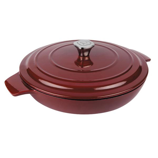 кастрюля rondell deep burgundy 24cm 2 7l rdi 700 Посуда чугунная Rondell Noble Red RDI-707 30см
