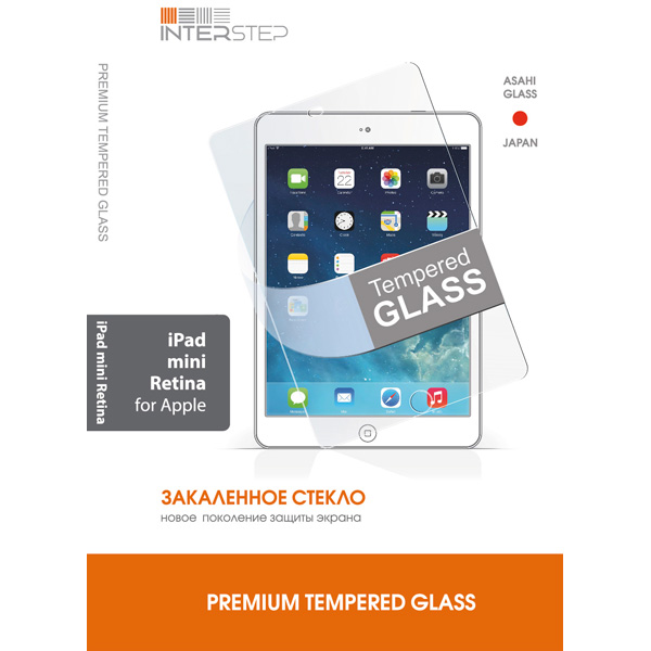 Защитное стекло для iPad InterStep для iPad mini (IS-TG-IPADMINRE-000B201) interstep азу interstep is cc 2usb0002k 000b201 black