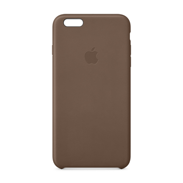 Чехол для iPhone Apple iPhone 6 Plus Leather Case Olive Brown MGQR2 аксессуар чехол накладка stone age jungle collection wood skin for iphone 6 plus brown