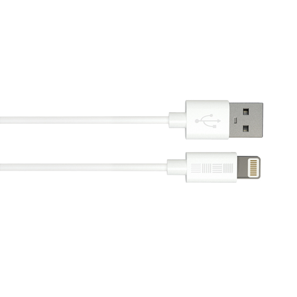 Кабель для iPod, iPhone, iPad InterStep USB/Lightning(MFI), белый, TPE, 1,0m