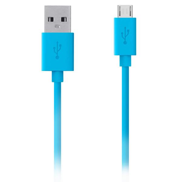 Кабель для сотового телефона Belkin microUSB - USB M-M 2m Light Blue(F2CU012bt2M-BLU)