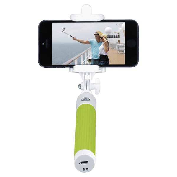 Монопод для смартфона InterStep MP-115B Green (IS-HD-MPSP115GR-BT0B201) беспроводная акустика interstep sbs 150 funnybunny blue is ls sbs150blu 000b201