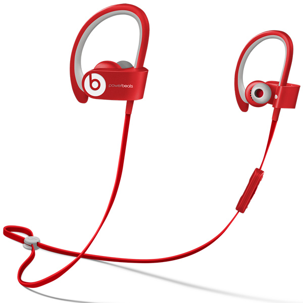 Спортивные наушники Bluetooth Beats Powerbeats 2 Wireless Red (MHBF2ZM/A)
