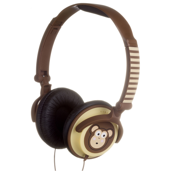 Наушники накладные Kitsound My Doodles Monkey Brown (DDMKYHP) kitsound boom evolution black