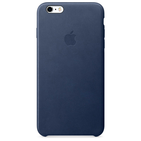 Чехол для iPhone Apple iPhone 6s Plus Leather Case Midnight Blue чехол накладка apple leather case midnight blue для iphone 7 plus mmyg2zm a кожа темно синий