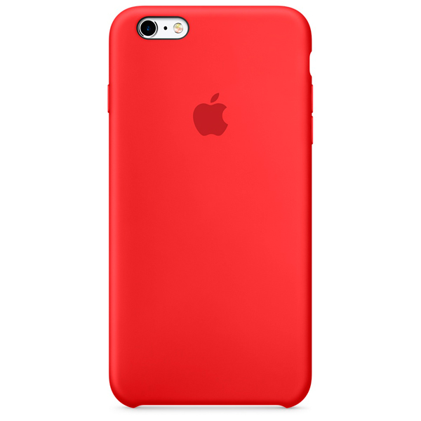 Чехол для iPhone Apple iPhone 6/6s Silicone Case Red чехол для iphone interstep для iphone x soft t metal adv красный