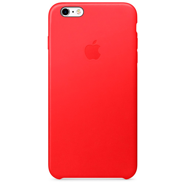 Чехол для iPhone Apple iPhone 6s Plus Leather Case RED чехол для iphone interstep для iphone x soft t metal adv красный
