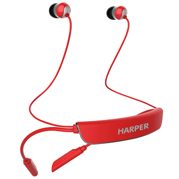 Наушники Bluetooth Harper HB-309 Red. Доставка по России