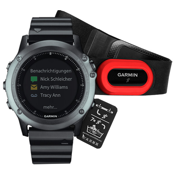 Спортивные часы Garmin Fenix 3 Sapphire Metal Band HRM-Run (010-0133826) garmin смарт часы forerunner 920xt white red hrm run