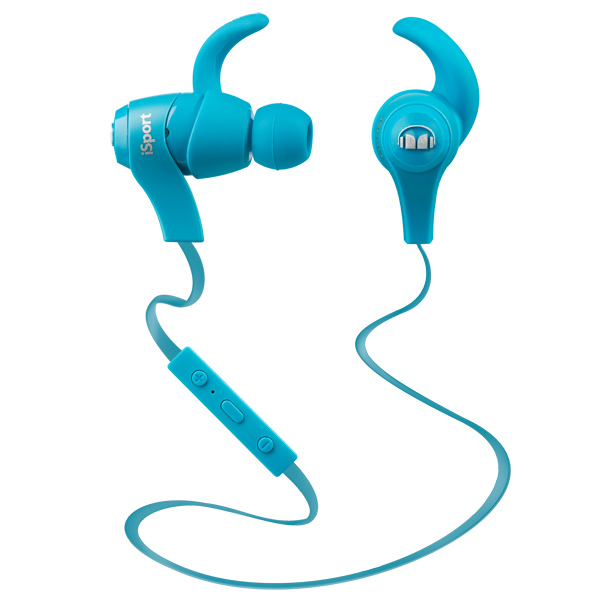 Спортивные наушники Bluetooth Monster iSport In-Ear Blue (128659-00) беспроводные наушники monster isport victory in ear wireless blue